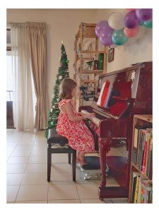 Christmas Colours at the Piano