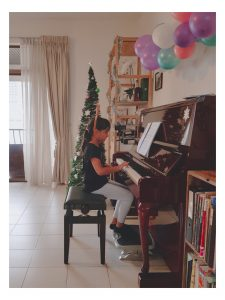 Christmas Ears at the Piano