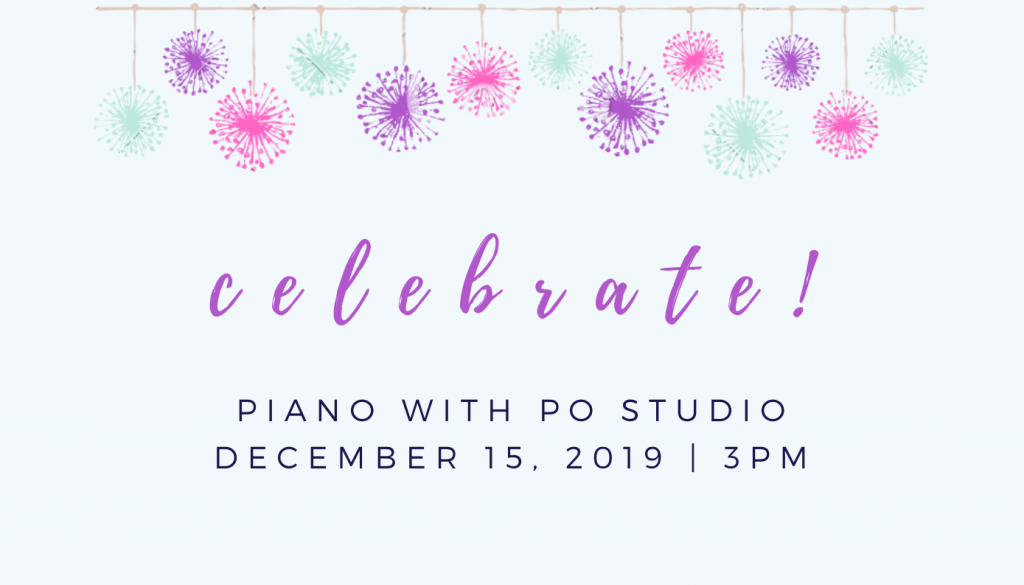 A Celebration Concert with piano with po